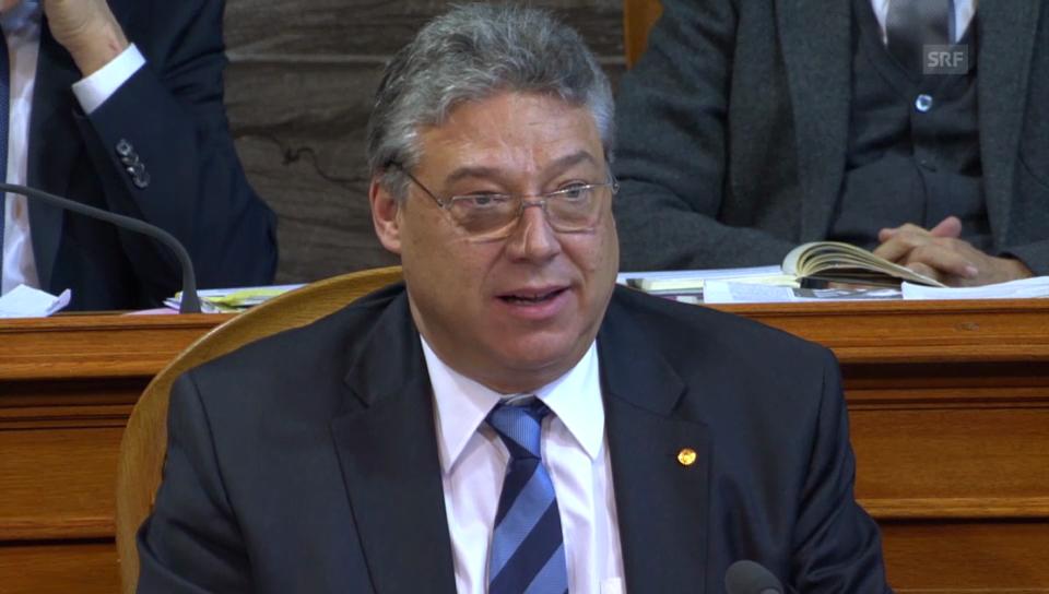 Filippo Lombardi (CVP/TI) richtet seinen Appell vor allem an die Urner