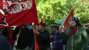 Video «Tausende Demonstranten am G7- Treffen» abspielen
