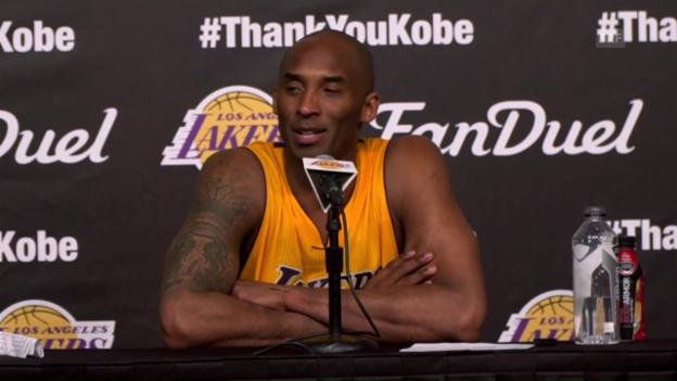 Video «Pressekonferenz mit dem abtretenden Kobe Bryant (SNTV, Engl.)» abspielen