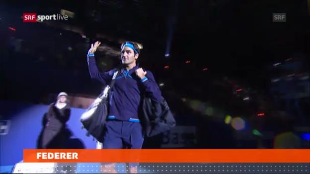 Video «Tennis: Federer in Basel dabei» abspielen