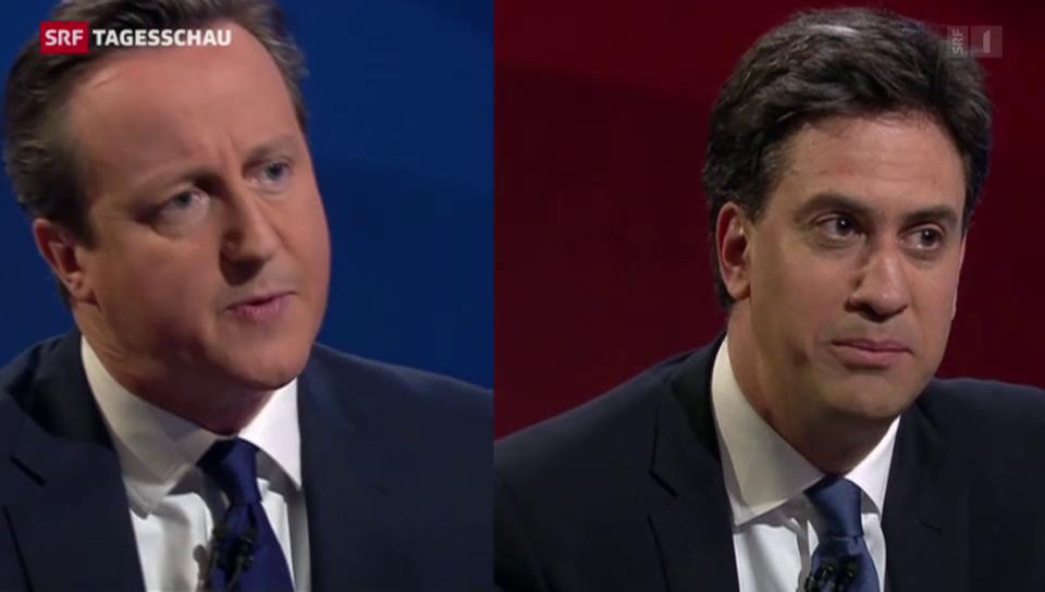 Indirektes Fernsehduell zwischen Cameron und Miliband