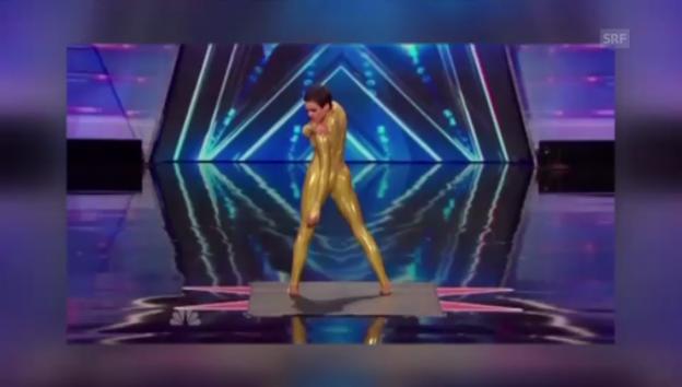 Video «Nina Burris Talent begeistert die Amis» abspielen
