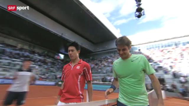 Tennis: Federer - Nishikori