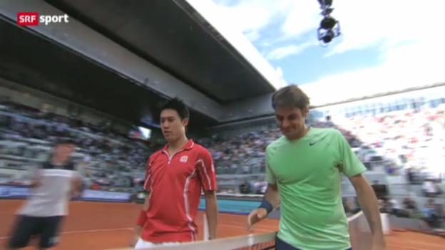 Video «Tennis: Federer - Nishikori» abspielen