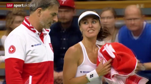 Video «Tennis: Fedcup, Polen-Schweiz Comeback von Martina Hingis» abspielen