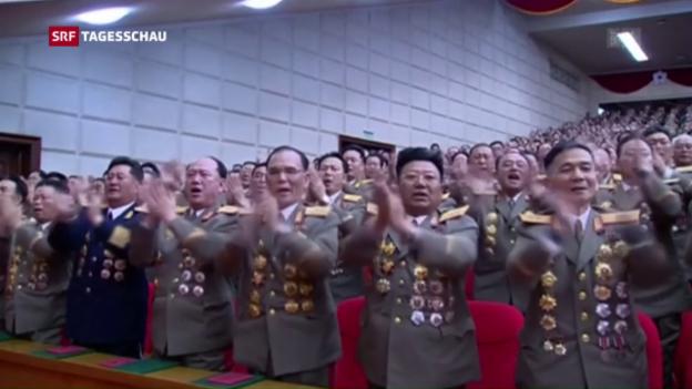 Video «Nordkorea feiert seinen Machthaber» abspielen