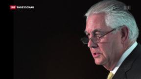 Video «Trump feuert Aussenminister Tillerson» abspielen