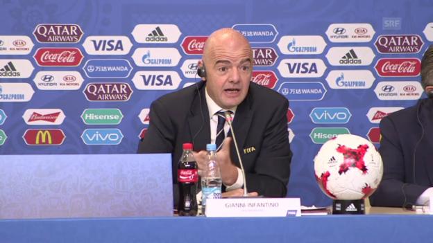 Video «Infantino über die Zukunft des Confed Cup (SNTV, englisch)» abspielen