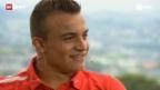 Video «Xherdan Shaqiri - über das Zusammenspiel mit den Weltstars und das Anpassen von Lederhosen» abspielen