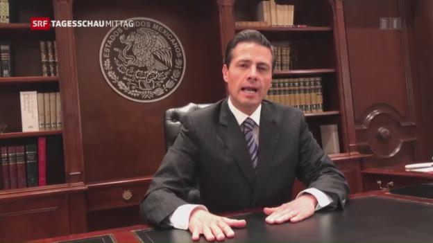 Video «Mexikos Präsident über Mauerpläne erbost» abspielen