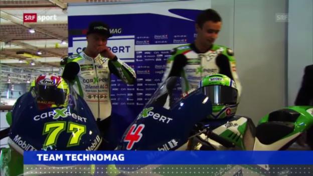 Video «Motorrad: Präsentation Team Technomag» abspielen