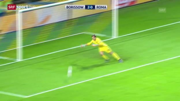 Video «Fussball: Roma-Goalie Szczesny patzt gegen BATE» abspielen