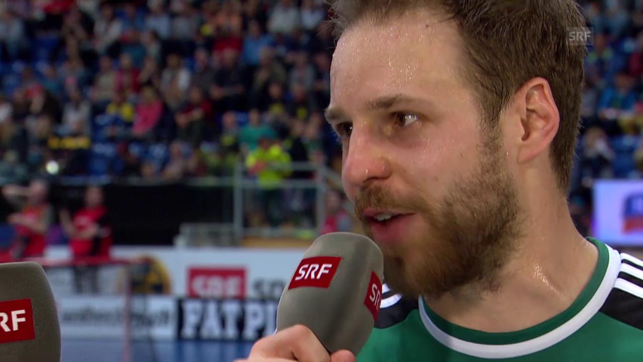 Unihockey: Superfinal Wiler-Ersigen - Malans, Interview mit Christoph Hofbauer