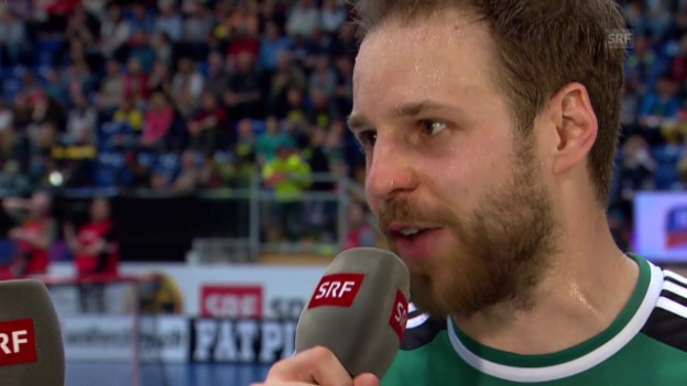 Video «Unihockey: Superfinal Wiler-Ersigen - Malans, Interview mit Christoph Hofbauer» abspielen