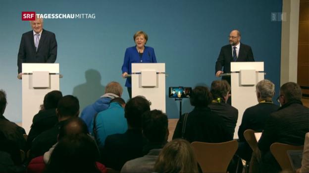 Video «Union und SPD einigen sich auf Koalitionsverhandlungen» abspielen