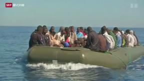 Video «Mieses Geschäft mit Flüchtlingen: Mehr Schlepper verhaftet» abspielen