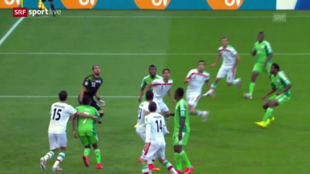 Video «FIFA WM 2014: Zusammenfassung Iran - Nigeria» abspielen