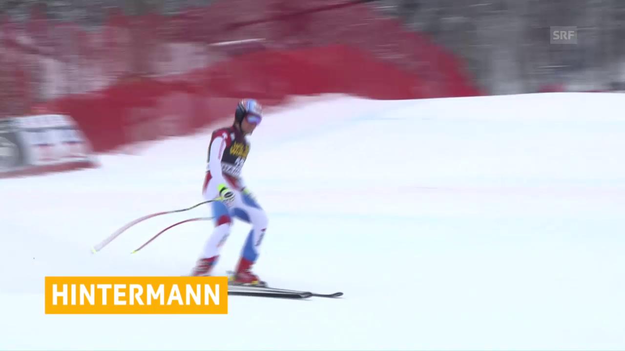 Hintermanns Sieg im Super-G