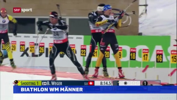 Video «Biathlon: WM 2013, Sprints» abspielen