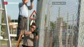 Video «Ungarn schliesst um Mitternacht grüne Grenze zu Kroatien» abspielen