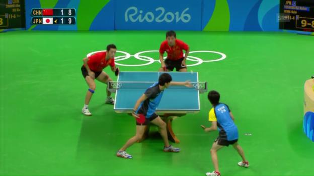 Video «Gold im Team-Final: China bleibt im Tischtennis unantastbar» abspielen
