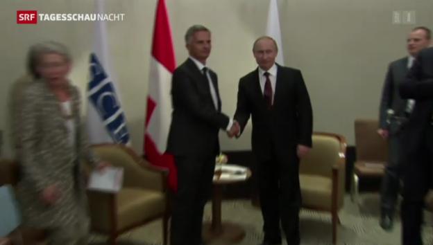 Video «Burkahlter Putin Treffen» abspielen