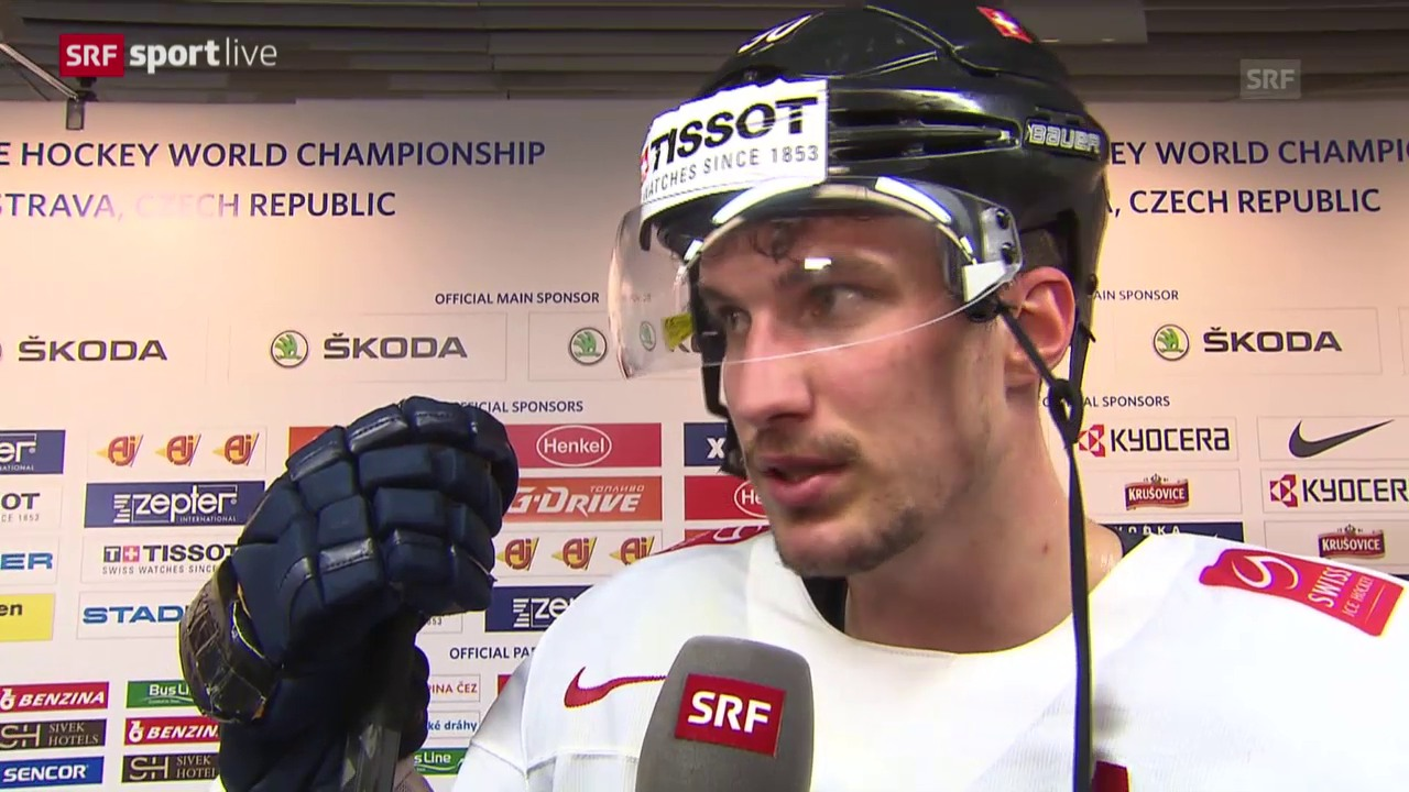 Eishockey: USA-Schweiz, Interview Roman Josi