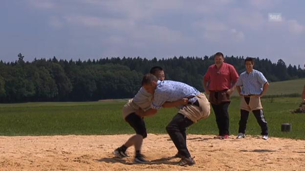 Video «Renzo Blumenthal im Kampf mit Donghua Li» abspielen