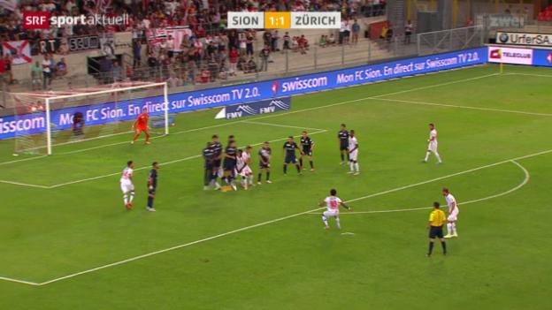 Video «Fussball: Sion - FCZ, Freistoss Carlitos» abspielen