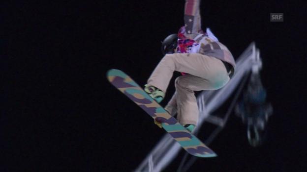 Video «Snowboard Halfpipe: Der Bronze-Run von Kelly Clark (sotschi direkt, 12.02.2014)» abspielen