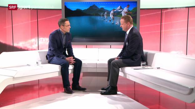 Video «Studiogast Rolf Fringer: Gespräch, Teil 1» abspielen