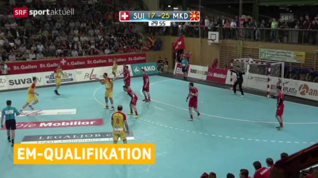 Video «Handball: EM-Qualifikation, Schweiz - Mazedonien» abspielen