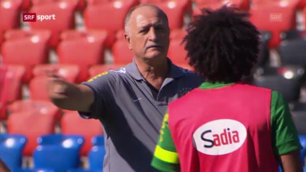Video «Brasilien vor dem Spiel gegen die Schweiz («sportaktuell»)» abspielen