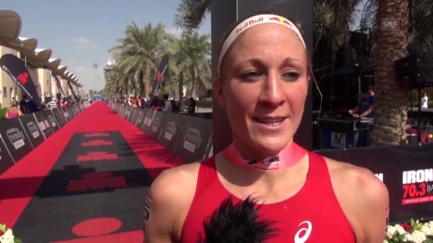 Video «Triathlon: «Triple Crown» Bahrain, Interview Ryf» abspielen