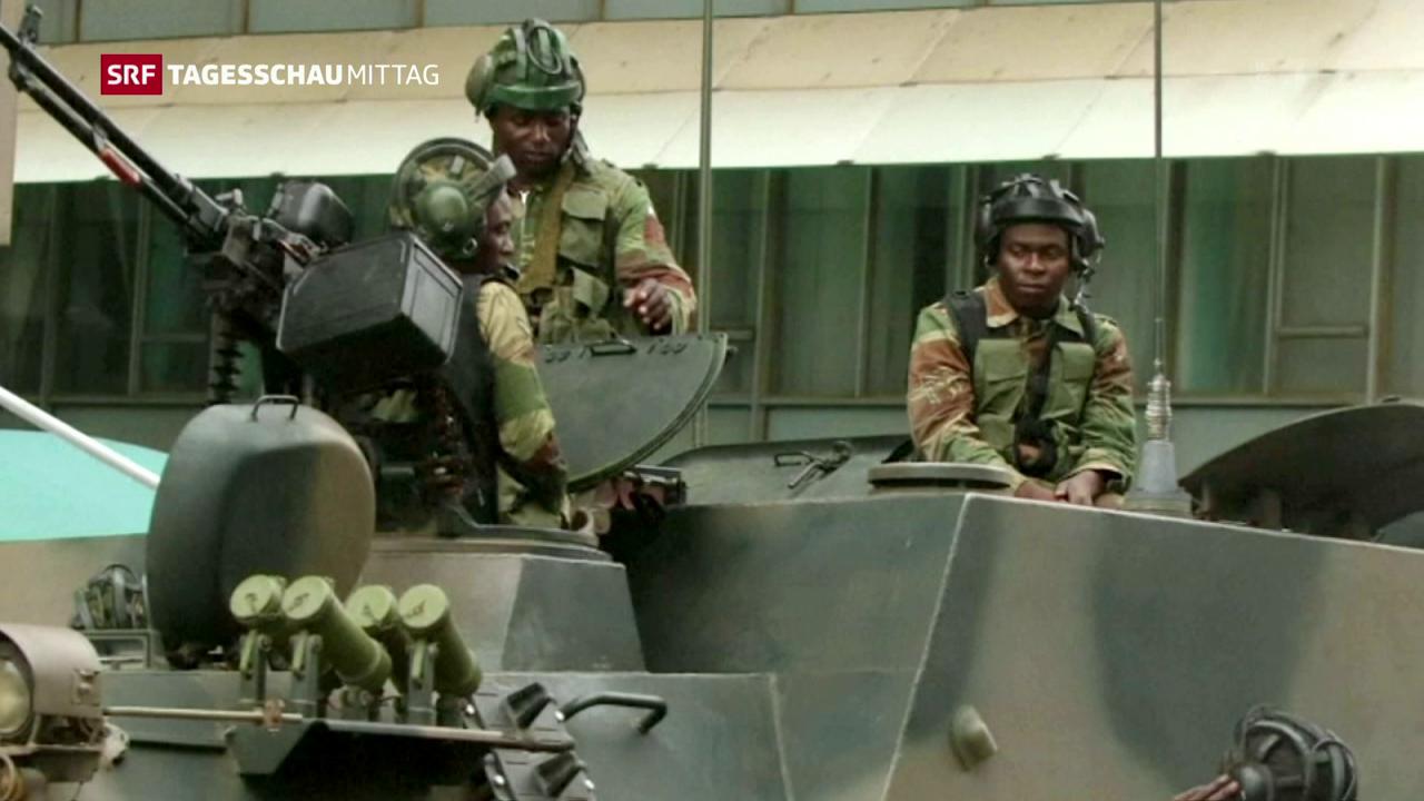 Anspannung nach dem Militärputsch in Simbabwe