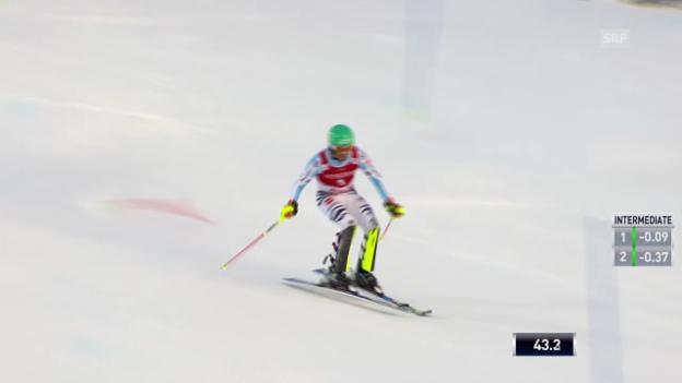 Video «Ski: Weltcup Männer, Slalom Are, 1. Lauf Felix Neureuther» abspielen