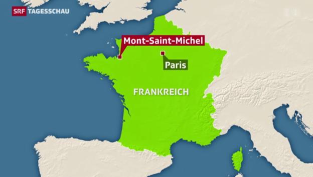 Video «Springflut am Mont-Saint-Michel» abspielen