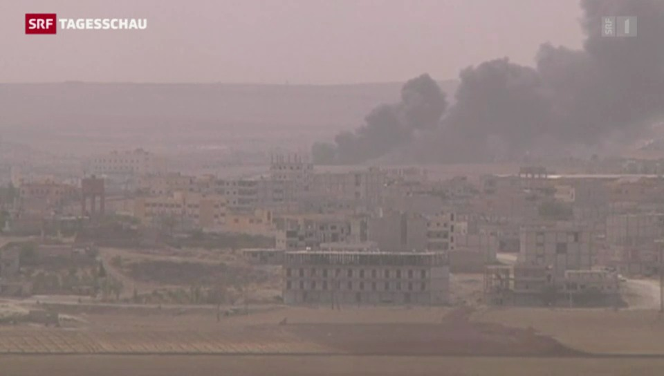 Kobane in die Zange genommen