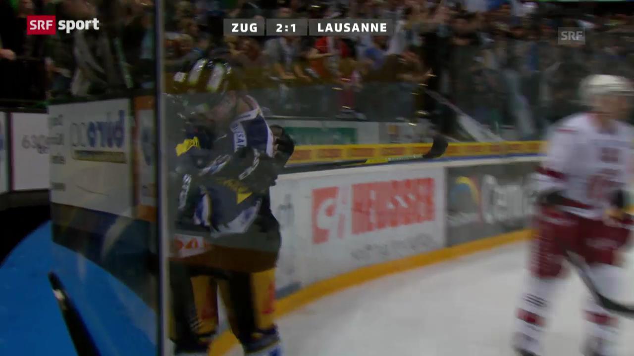 Eishockey: Zug-Lausanne («sportaktuell»)