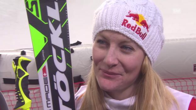 Video «Freestyle-WM in Kreischberg: Skicross Frauen, Fanny Smith im Interview» abspielen