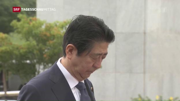 Video «Japans Premier Abe besucht Pearl Harbor» abspielen