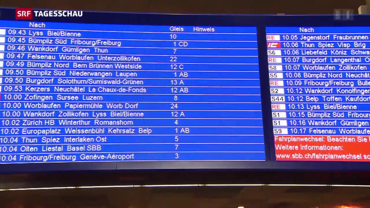 Fahrplanwechsel bei der SBB