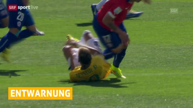Video «FIFA WM 2014: Entwarnung bei Neymar» abspielen