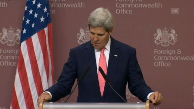 US-Aussenminister Kerry auf die Journalistenfrage (engl.)