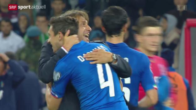 Video «Fussball: EURO-Quali, Aserbaidschan-Italien» abspielen