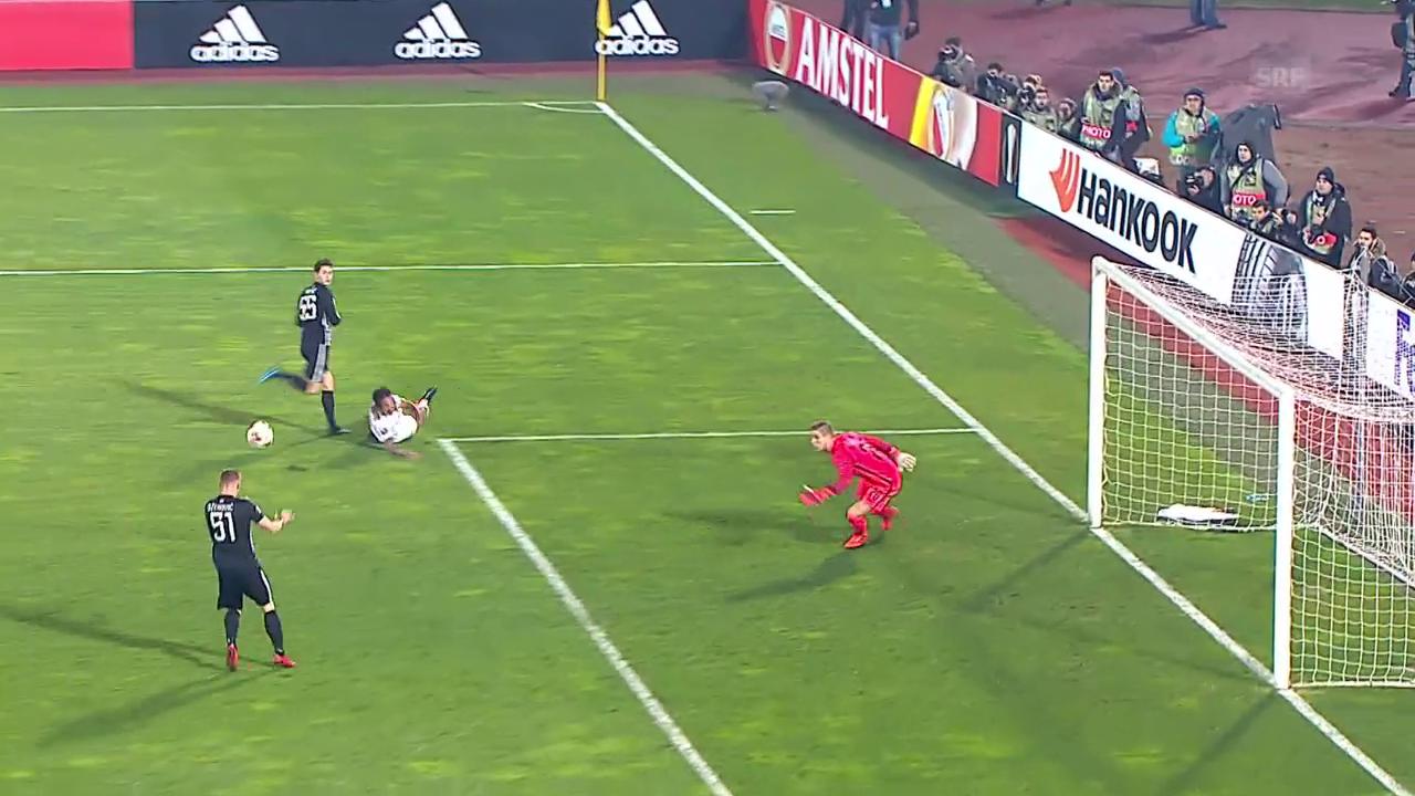 So herrlich kombinierte sich Partizan zum 2:1