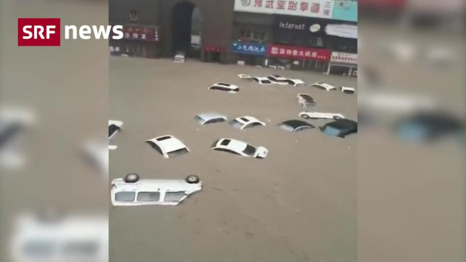 Aus dem Archiv: Millionenmetropole Zhengzhou von Jahrhundertflut getroffen