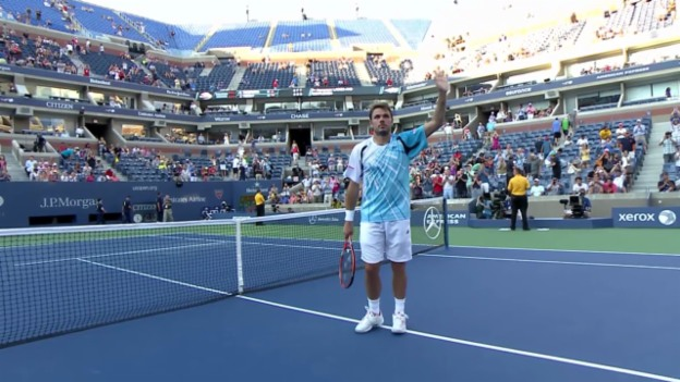Video «Tennis: US Open, Wawrinka - Vesely, entscheidende Punkte» abspielen