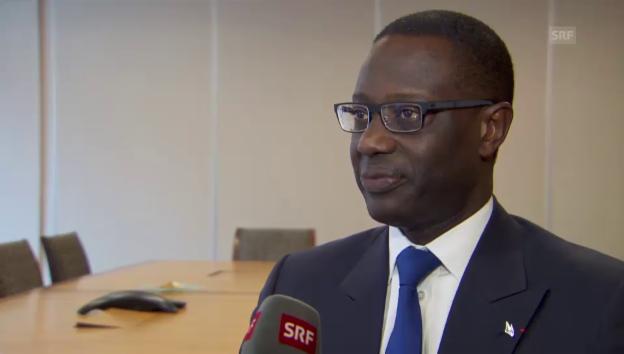 Video «Interview mit Tidjane Thiam, Konzernchef der Credit Suisse» abspielen