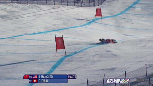 Video «Ski: Gisins Sturz in Vancouver» abspielen